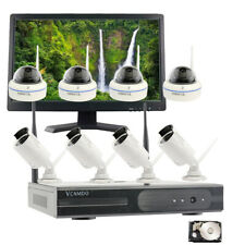 Business Home CCTV 1080P 8CH Wireless IP Security Camera System H.265 Monitor IR