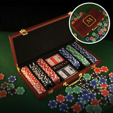 Personalized 300 Piece Poker Set Engraved w/ Design Options & Font Selection