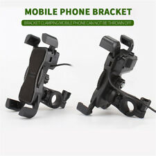 Motorcycle Phone Holder Bracket Double USB Charger 12-30V For Cell Phones GPS