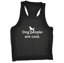 Funny Novelty Mens Vest Singlet Tank Top - Dog People Are Cool