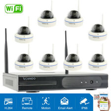 Vcamdo 8CH 2MP CCTV IP Security Camera System Wireless IR 1080P NVR WIFI Outdoor