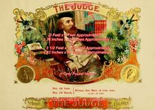 THE JUDGE Cigar Label SMOKE Wine GOLD COINS =POSTER 2 SIZES 4 Feet or 4 1/2 Feet