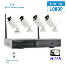 4CH CCTV Security IP Camera System IR 1080P NVR Network Metal HDD Surveillance