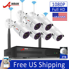 ANRAN 1080P Outdoor Wireless Security IP Camera System 2TB HDD WiFi CCTV 8CH NVR