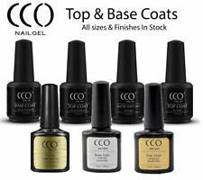 CCO UV GEL NAIL POLISH TOP BASE MATTE NO WIPE PRIMER OIL 7.3ML/15ML FREE P&P