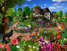 Cats in a Cottage Garden 1000 or 500 Piece Jigsaw Puzzles
