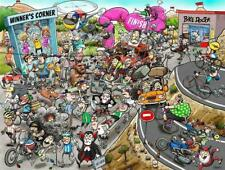 Chaos at the Cycling Tournament 1000 or 500 Piece Jigsaw Puzzle