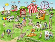 Chaos at the Village Fair 1000 or 500 Piece Jigsaw Puzzles