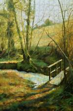 The Footbridge  by Gill Erskine-Hillis 500 or 1000 piece Jigsaw Puzzle