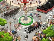 Chaos at the Royal Wedding 1000 or 500 Piece Jigsaw Puzzle