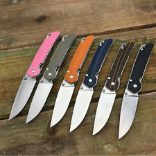 Corrosion Resistant Folding Camping Knife with D2 Blade G10 Handle Outdoor Tools