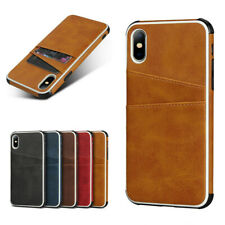For iPhone X XR XS Max 8 7 6 6s Plus Leather Wallet Case Card Slot Pocket Cover