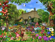 Thatched Cottage Garden 1000 or 500 Piece Jigsaw Puzzles