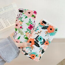 For iPhone XR XS Max X 8 7 6 Cute Handmade Flower Pattern Soft Rubber Case Cover