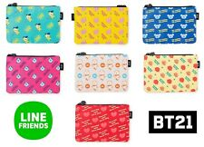 BT21 Character Pattern Cute Multi Pouch Official Goods Authentic BTS Gift