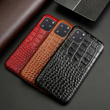 For iPhone 11 Pro XR XS Max 78 Plus Genuine Leather Luxury Phone Case Back Cover