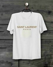 New Hot 2019Saint Laurent Paris White Men's Gildan T-Shirt Size S - 2XL