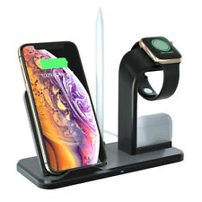 10W Qi Wireless Charger Dock For Apple Watch 5/4/3/2/1 AirPods iPhone 11 8 XS XR