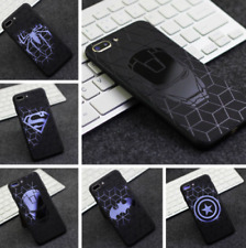 3D Embossed Marvel Avengers DC Comics Phone Cases iPhone XS MAX XR X 10 6 Covers