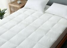 Super Soft Sherpa Teddy Fleece Quilted Mattress Topper Cover & Pillow All Size