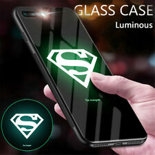 MORVEL AVENGERS LUMINOUS TEMPERED GLASS CASE For IPhone XS MAX XR 11 PRO Cover