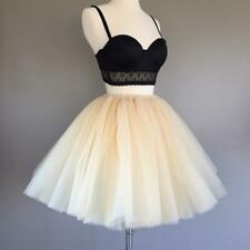 7Layered 50cm Tutu Tulle Skirts Womens High Waist Swing Dolly Ball Gown Underski