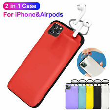 Shockproof Armor Case for iPhone 11Pro Max XR X XS Cover Case for Airpods Holder