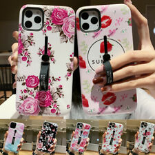 Relief Flower Case Kickstand Hybrid Cover For iPhone 11 Pro Max XS XR X 8 7 Plus