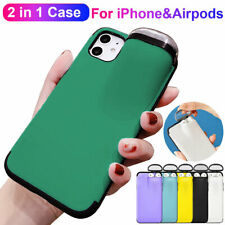 Hard Case for Airpods Holder Case for iPhone 11Pro Max XR XS X Hybrid Hard Cover