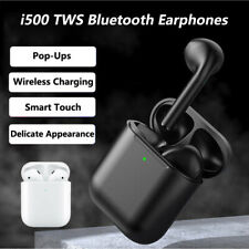 i500 TWS Wireless Bluetooth Headset In-Ear Detection Touch Control Superbass New