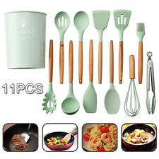 11PCS  Spatula Spoon Holder Silicone Kitchen Utensils Nonstick Cooking Tool Sets