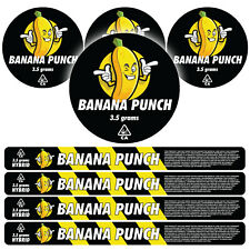 100ml Pressitin Labels - Banana Punch - Cali Press Tin Stickers Lid and Label