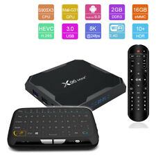 Android 9.0 X96 Max+ Plus Quad Core 8K HDR Amlogic WiFi Google Play Smart TV Box