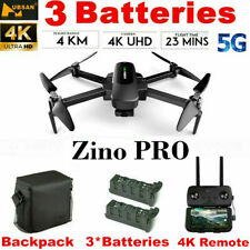 Hubsan ZINO PRO 5G Wifi APP Drone 4.5KM 4K Camera Foldable 3Gimbal+3Battery+Bag