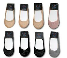 Women Girls Ladies Lace Footsies Invisible Socks Shoe Liner Black Beige One Size