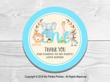 Gold Birthday Party Stickers Thank You Seals 35 Personalised Marble Girl Boy