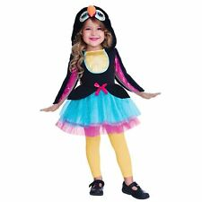 Girls Cute Toucan Hooded Dress Costume Tutu Blue Pink Animal Book Day