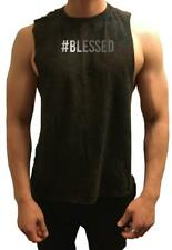 NW Mens #Blessed Workout bodybuilding gym muscle fitness shirt Loose Tank Top
