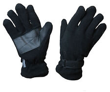 MENS THERMAL WINTER DURABLE BREATABLE FLEECE GLOVE M-XL