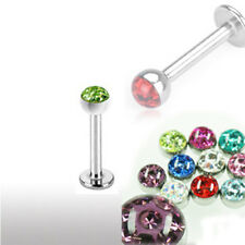 1,2mm Labret Lippe Ohr Helix Piercing mit Epoxy Crystal Kugel 3mm