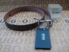 NEW HUGO BOSS MENS DESIGNER BROWN SNAKE SKIN LEATHER BAG BOOTS WALLET SUIT BELT