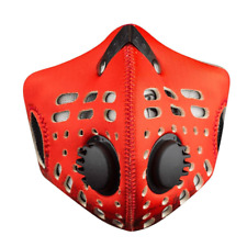 RZ M1 Neoprene Face Dust Mask Red, 2 filters, storage bag
