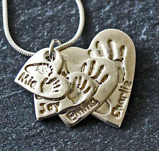 Handprint or footprint imprints in Silver keepsakes
