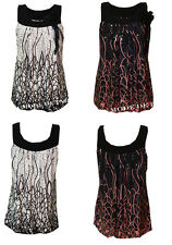 P74 NEW WOMENS SILVER SEQUIN MINI DRESS LADIES BROOCH TOP IN PLUS SIZES 08-18.