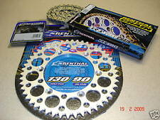 Renthal Chain And Silver Sprocket Kit KX KXF 125/250/450/500 85-13 Motocross