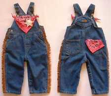 NEW Cowgirl Bib Overalls, Blue Denim Jeans, Girl Sizes 9 mos-4T, Baby & Toddler