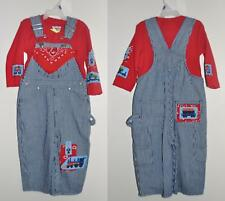 NEW Train Railroad Bib Overalls, blue denim Jeans, Sizes 9mo-4T,  baby & toddler
