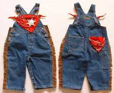 NEW Cowboy Bib Overalls, Blue Denim Jeans, Boy Sizes 9 mos - 5T, Baby & Toddler