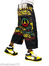 Dirty Money is ® Rasta Peace Raw Time Jeans Shorts Hip Hop Is Money
