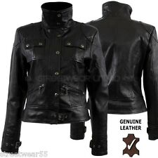 Aviatrix Women Biker Style Genuine Leather Jacket Lara